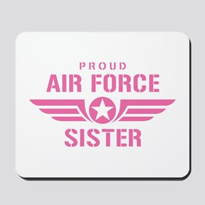 Proud Air Force Sister W [pink] Mousepad